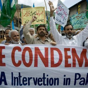 U.S.-Pakistan relations hit an all-time low when news broke of the bin Laden raid and the fake CIA vaccination program. Source: Anjum Naveed/AP Photo