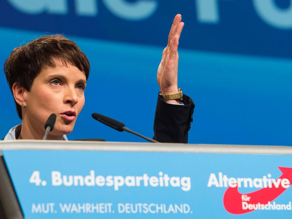 Frauke Petry, the head of the ultranationalist AfD party. Source: The Independent
