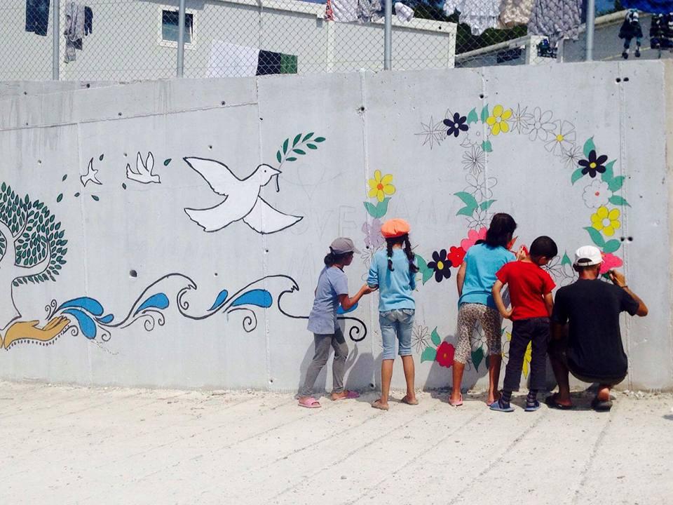 samos volunteers murals