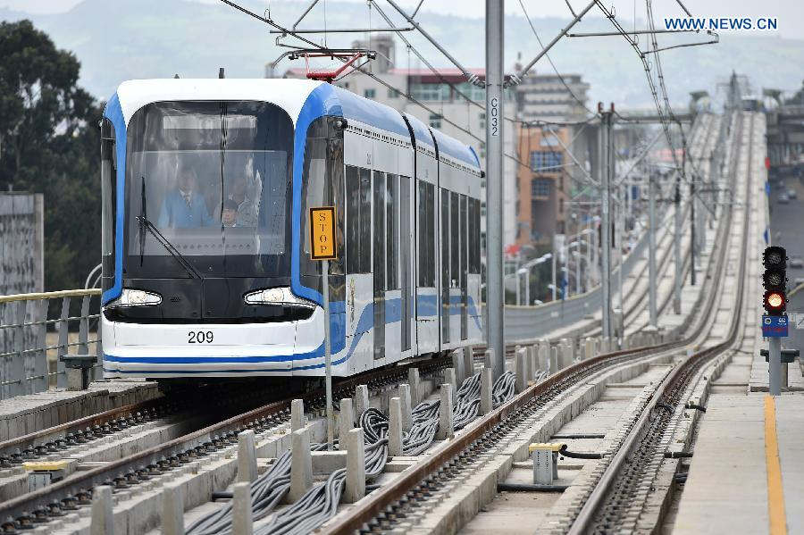 New light railroad and train constructed by the China Railway Group (CREC) in Ethiopia. Called the electrified Addis Ababa Light Rail Transit, it is the first light rail in Ethiopia and runs 34 km.