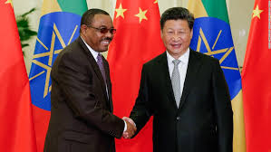 Chinese President Xi Jinping (R) meets with Ethiopian Prime Minister Hailemariam Desalegn in Beijing, May 12, 2017 at the Belt and Road Forum for International Cooperation. Source.Chinese President Xi Jinping (R) meets with Ethiopian Prime Minister Hailemariam Desalegn in Beijing, May 12, 2017 at the Belt and Road Forum for International Cooperation. Source: Ezega.com