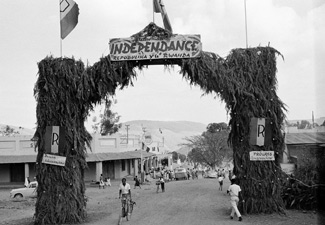The U.N. and Rwandans celebrate after a push for self-determination and, ultimately, independence, comes through (1962). Source: United Nations