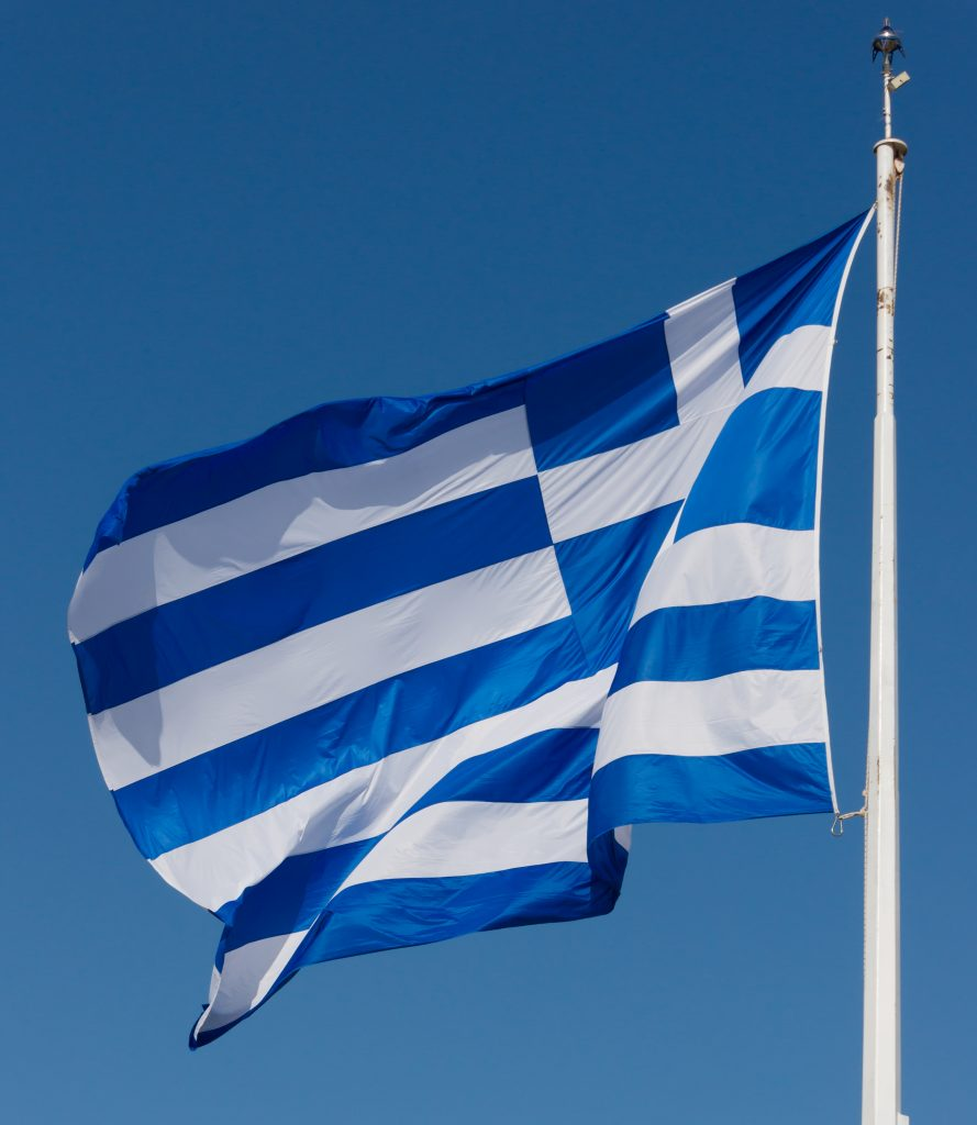 Flag of Greece. Source: Wikimedia Commons