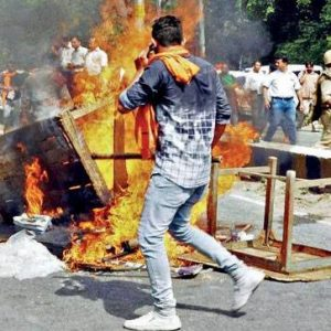 Riots erupt between Hindus and Muslims in the town of Kasganj, Uttar Pradesh. Source: India Today