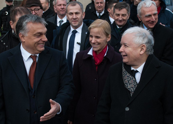 Orban (left) and the former PM of Poland, Kaczynski (right). Source: Fakt24