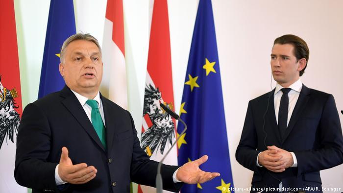 Viktor Orban arguing against EU immigrant quotas. Source: Deutsche Welle