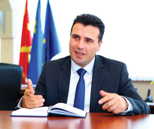 Zoran Zaev, the new socially democratic prime minister of Macedonia. Source: Wikimedia Commons