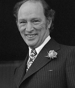 Smiling Pierre Trudeau