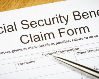 Social Security Benefits claim form