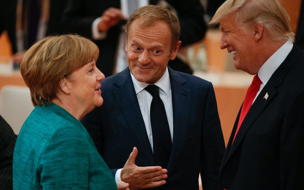 Germany Prime Minister Angela Merkel speaking to President Donald Trump. Source: Wall Street Journal