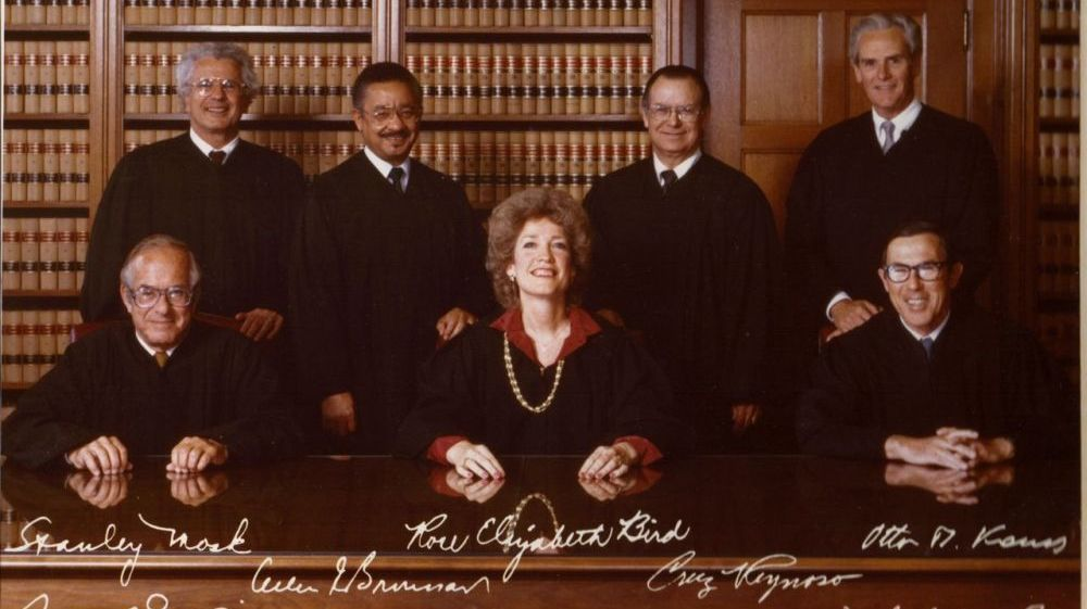 Cruz Reynoso with California Supreme Court Justices.