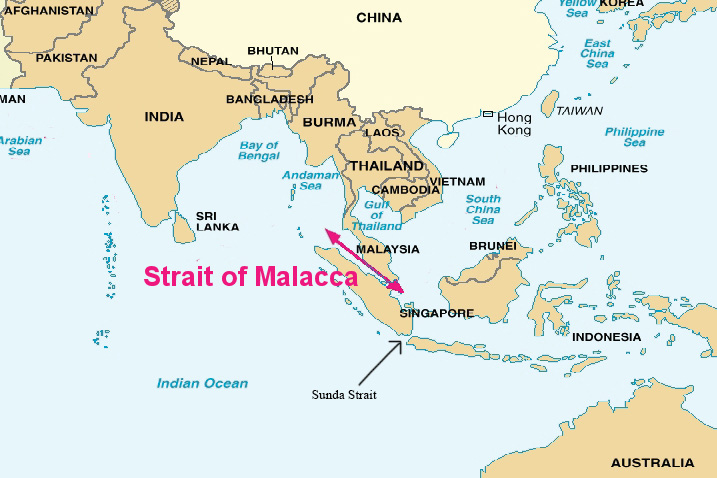 The Strait of Malacca and the Indonesian archipelago