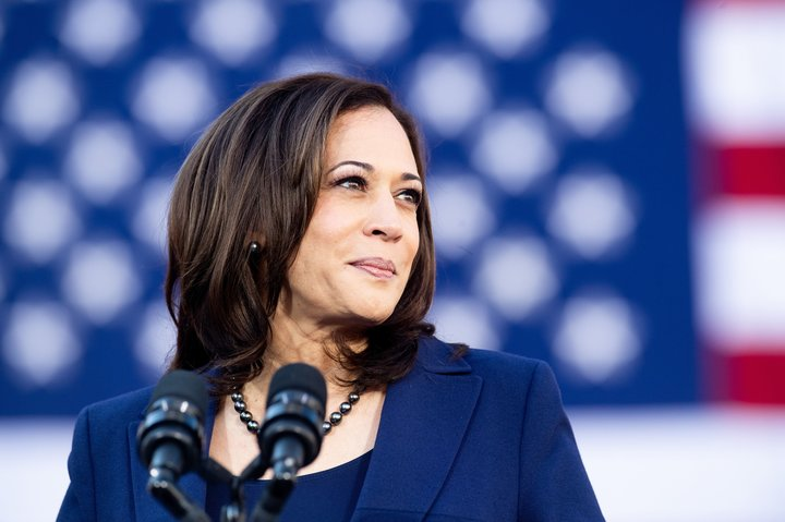 U.S. Senator Kamala Harris of California at her campaign launch rally in Oakland. Source: Huffington Post