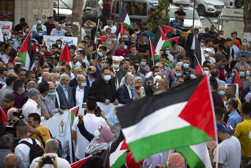 Palestinians Protest the Abraham Accords