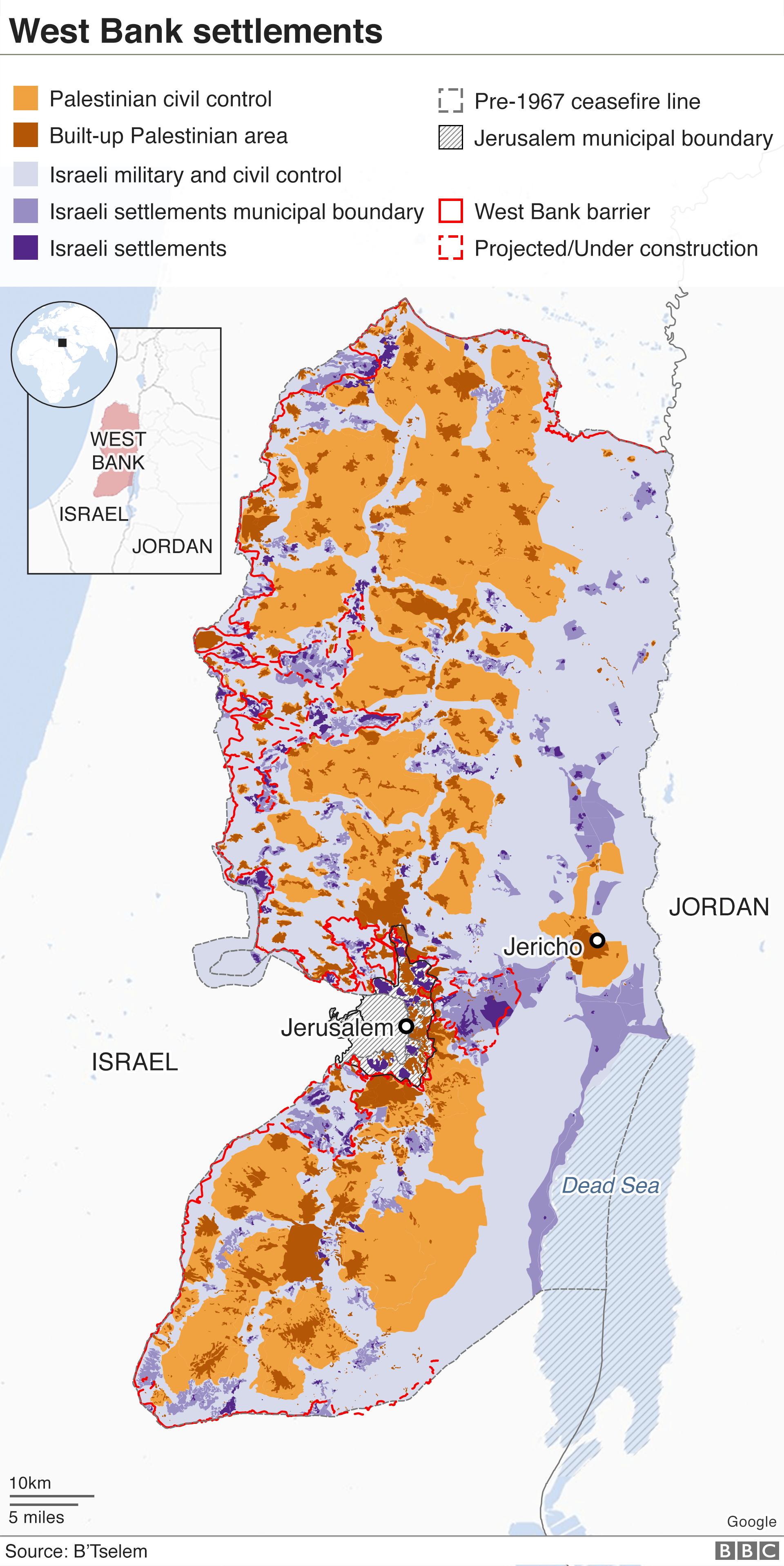 Map of West Bank Settlements